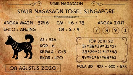 Nagasaon SGP Sabtu 08 Agustus 2020
