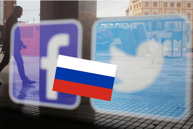 Russia vs faceboob and twitter