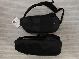 VANGUARD OSLO 47BK スリングバッグ/Incase DSLR Sling Pack CL58067 とサイズ比較