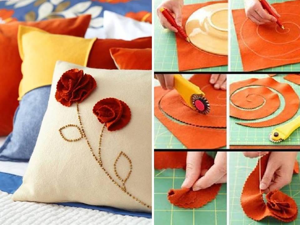 decorar almohadas de tela