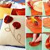 Como decorar un almohadón de tela paso a paso