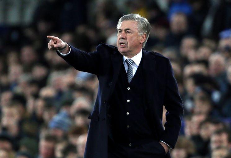 Everton head coach Carlo Ancelotti