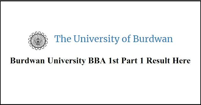Burdwan University BBA 1st Part 1 Result Here