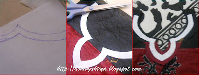 preparing neckline for kurti