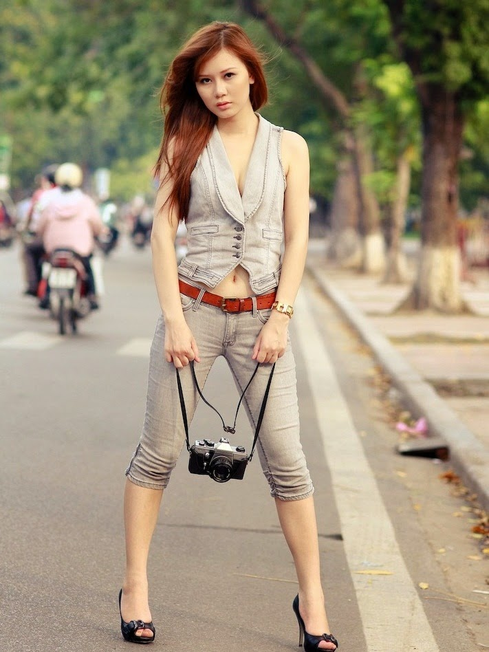 Cute and sexy as an Vietnamese female student