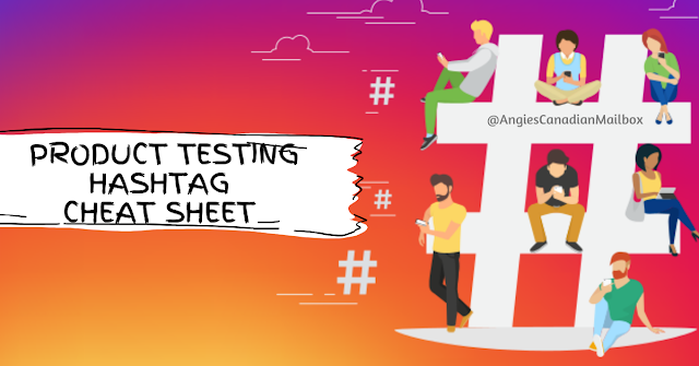 Product testing hashtag cheat sheet