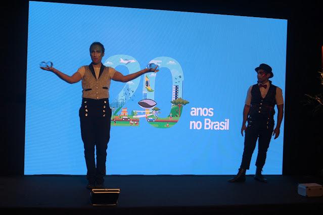Artistas de Humor e Circo se apresentam em evento da empresa Thyssenkrupp no Graciosa Country Club em Curitiba.