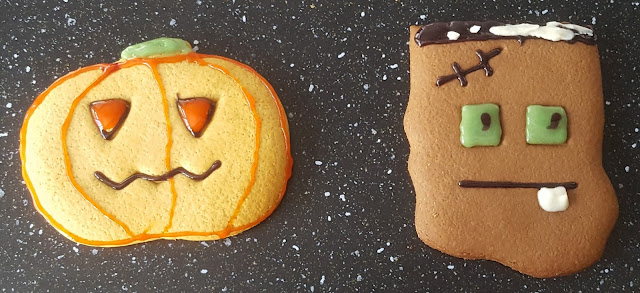 Spooky Decorated Halloween Biscuits