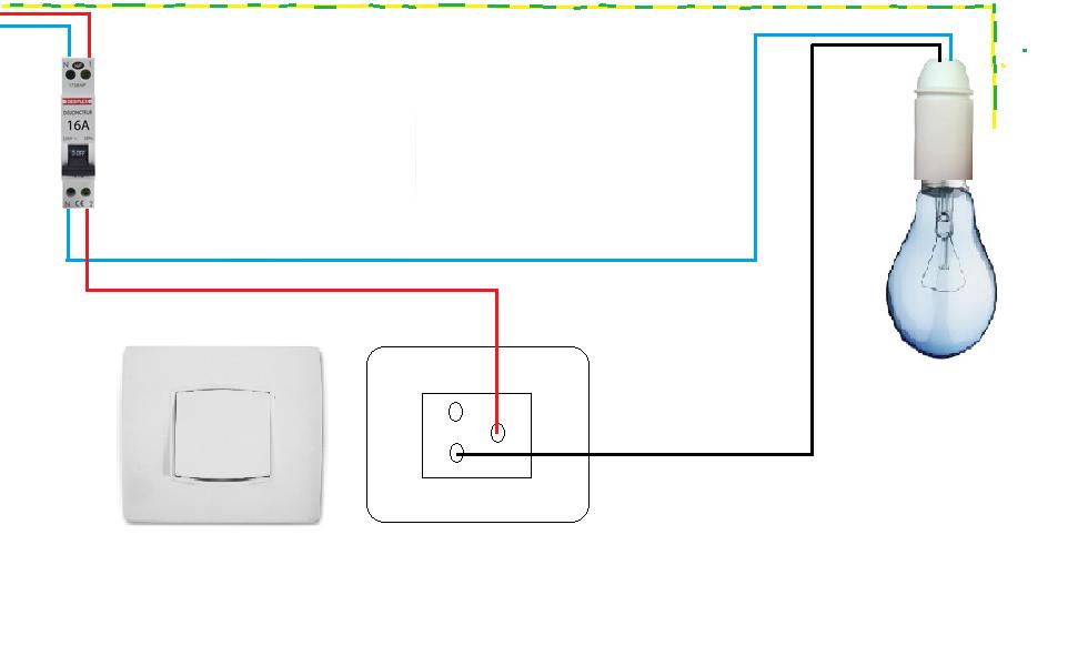 schema electrique simple allumage maison design. Black Bedroom Furniture Sets. Home Design Ideas