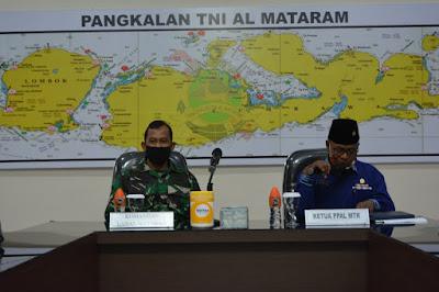 Danlanal Mataram Silaturahmi dengan Persatuan Purnawirawan TNI AL (PPAL) Rayon Lanal Mataram
