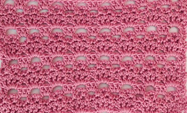 3 -Crochet Imagenes Puntada de abanicos y cadenas a crochet y ganchillo por Majovel Crochet