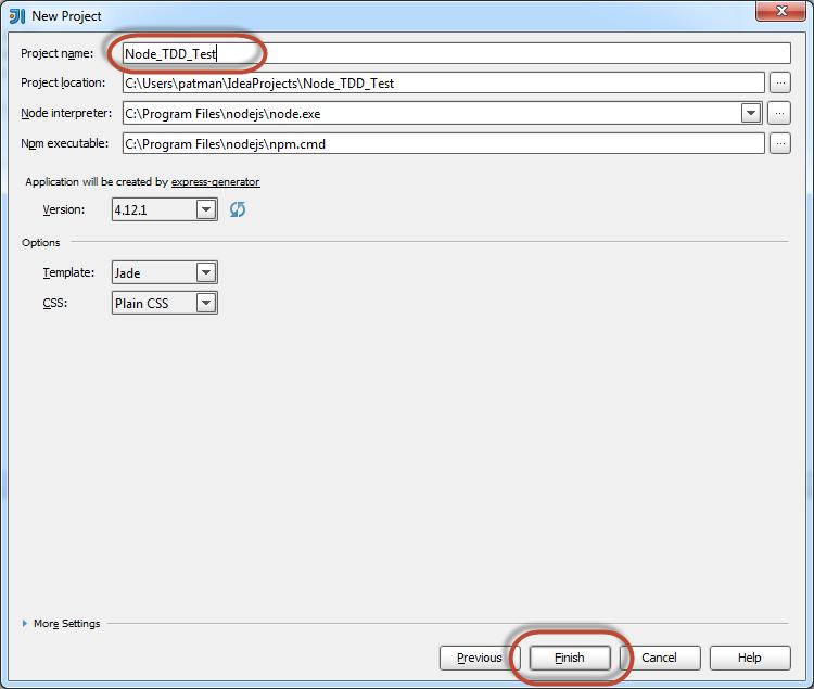 WhiteBoard Coder: Intellij and NodeJS setting up TDD