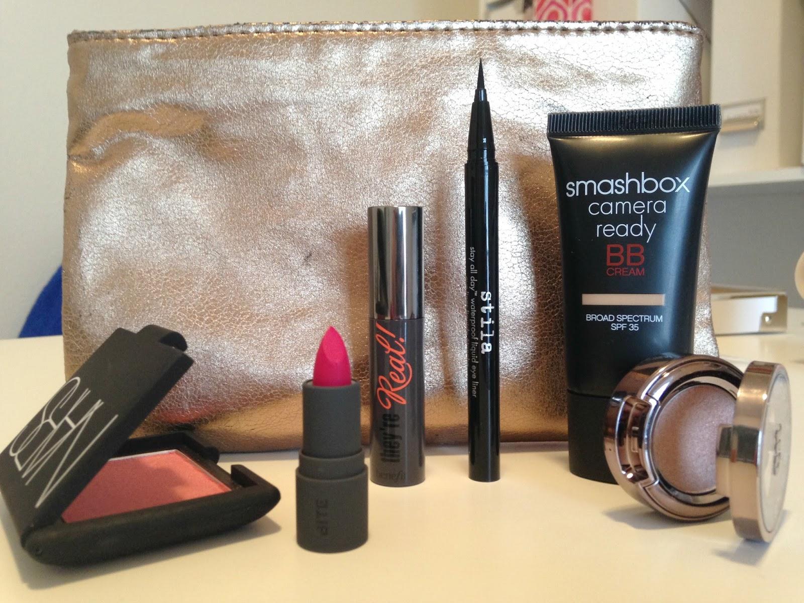 NARS orgasm blush review They're Real mascara Stilla eyeliner Smashbox BB Cream Urban Decay eyeshadow