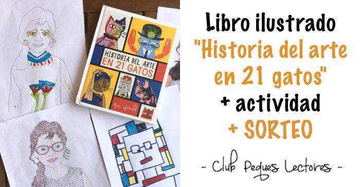 libro ilustrado para niños aprender Historia arte en 21 gatos