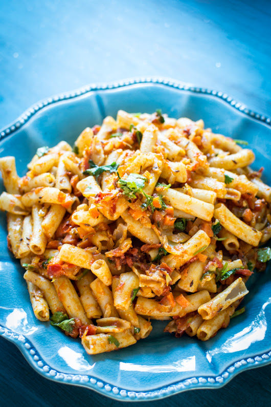 Indian Style Masala Pasta Recipe | Forks N Knives