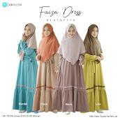 Koleksi Gamis Branded Model Terbaru Atqeeya Faiza Dress