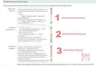 kode untuk kotak penelusuran