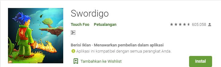 Game Platformer Terbaik untuk Android Swordigo