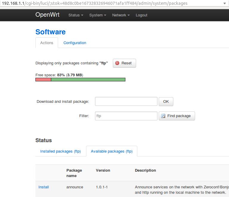 Openwrt signature file download failed | `opkg update
