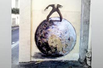 Street Art : Intervention de Philippe Hérard - rue de l'Equerre - Paris 19