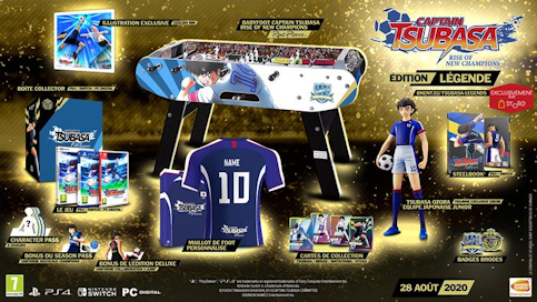 les 6 éditions de Captain Tsubasa - Rise of New Champions