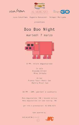 Boo Boo Night Sapori d'Oriente e Sake al mercato noodle bar  Per un appuntamento gourmet a sei mani 7 marzo Milano