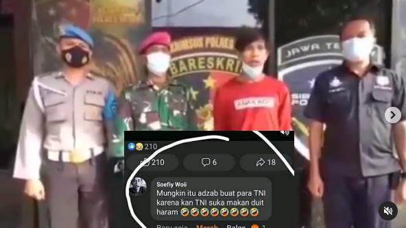 Pemilik Akun Soefiy Woii yang Tuduh TNI Suka Makan Duit Haram, Minta Maaf Diciduk