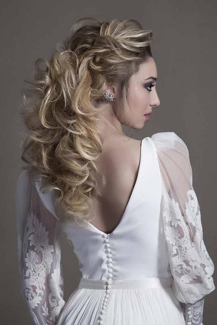 peinado de novia romantico 2020