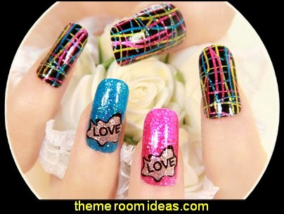 Metallic Shining Nail Art Sticker Decal
