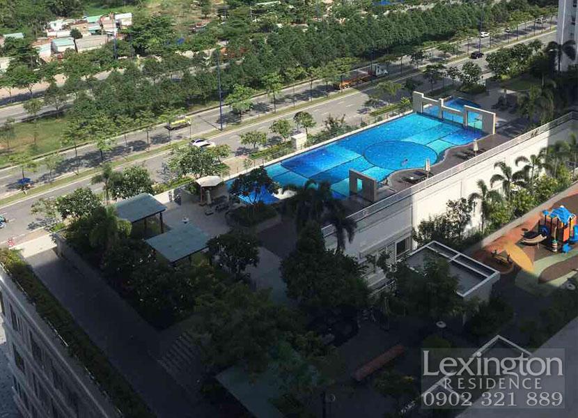 Block LC khu căn hộ Lexington quận 2 cho thuê 1PN view hồ bơi