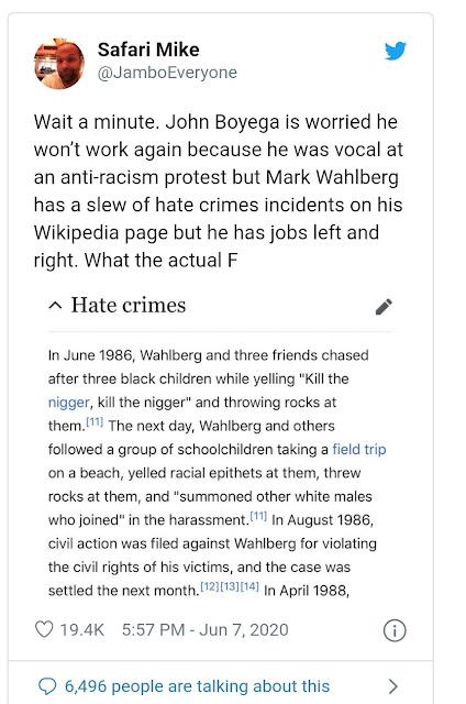 mark wahlberg black lives matter