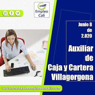 Empleo en Villagorgona como AUXILIAR DE CAJA Y CARTERA