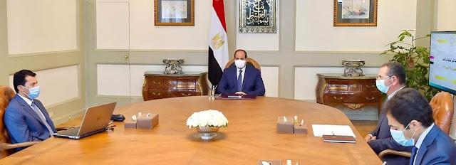 """""""الرئيس السيسي يتابع استعدادات استضافة مصر لبطولة كأس العالم لكرة اليد في يناير القادم"""""""