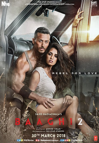 Poster of Baaghi 2 (2018) Full Movie Hindi 720p HDRip Free Download