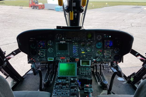 Airbus AS365 N3+ Dauphin cockpit