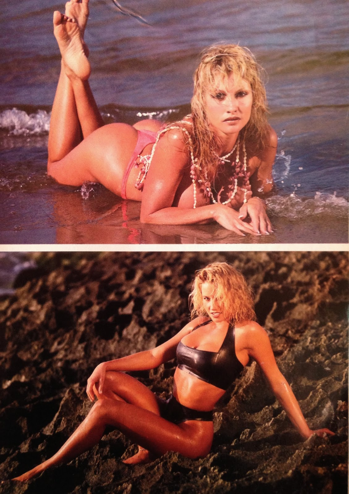 WWE: WWF RAW MAGAZINE - January 1998 - Sunny and Sable photoshoot