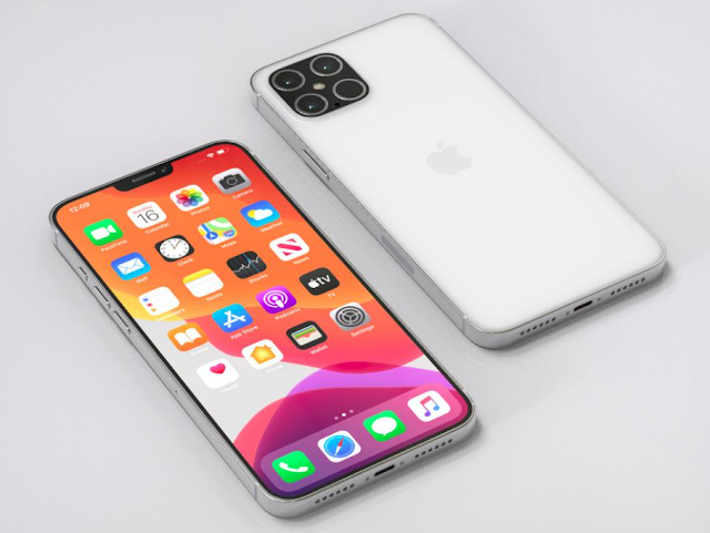 Apple iPhone 12 and iPhone 12 pro in different colors.