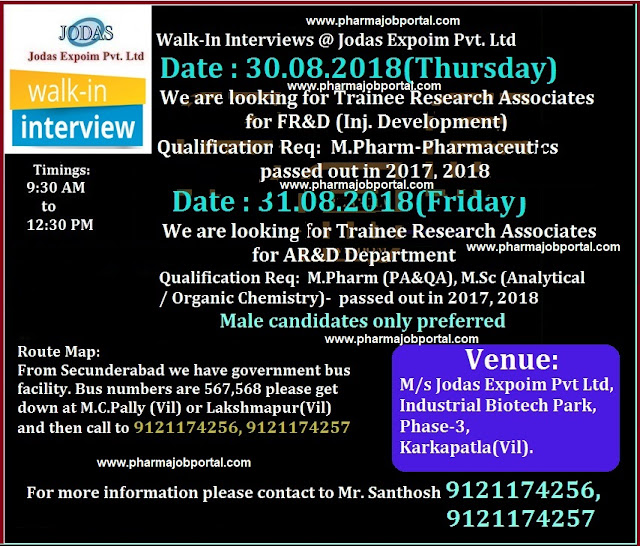 Jodas Expoim Pvt. Ltd Walk In Interview For Freshers at 30th & 31st August