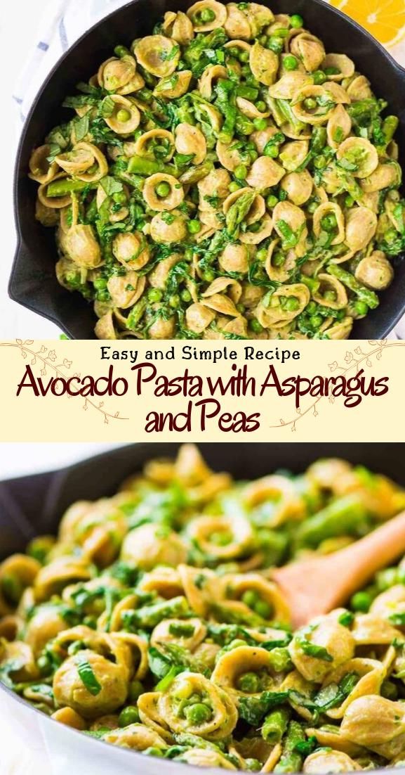 Avocado Pasta with Asparagus and Peas #healthyfood #dietketo #breakfast #food