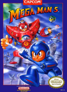 Capa do jogo Mega Man 5 para Nes