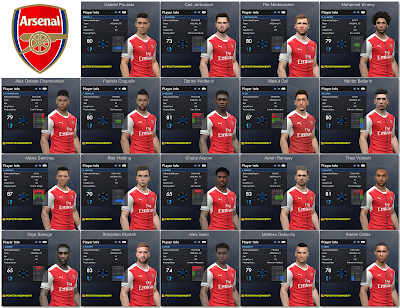 PES 2017 Arsenal Facepack 1.0