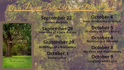 As a Proper Lady Would Blog Tour Schedule