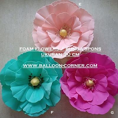 Foam Flowers / Bunga Spons Ukuran 30 Cm