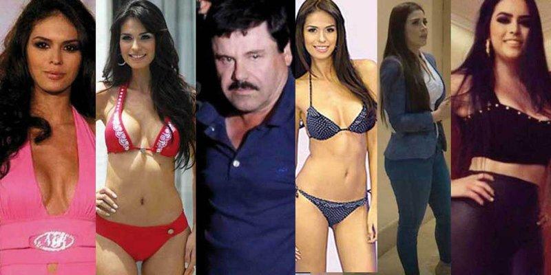 """Conoce el catálogo de modelos en la vida de """"El Chapo""""."""