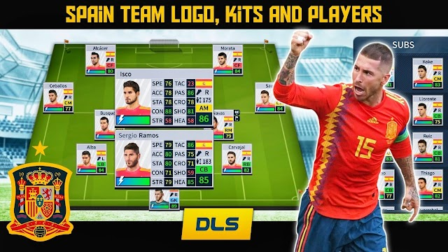 How To Create Spain National Football Team Logo, Kits and Players in Dream League Soccer 2019