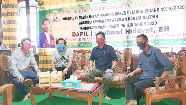Wabah Pandemi Covid-19 tak sulitkan Rahmat Hidayat Gelar Reses Tahap lll di Kampung Halamannya