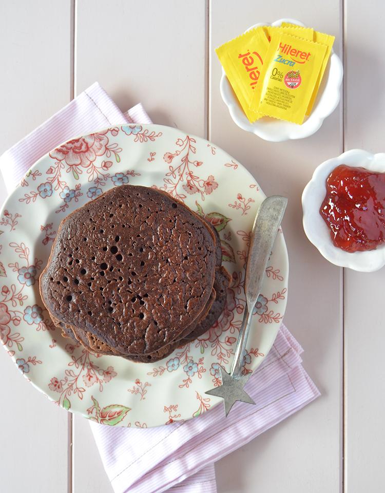 Pancakes de chocolate sin azúcar