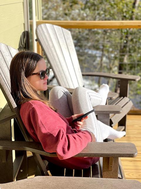 teen sitting in the sun