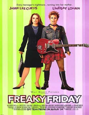 Poster Of Freaky Friday 2003 English 400MB Web-DL 720p ESubs HEVC Free Download Watch Online Downloadhub.in