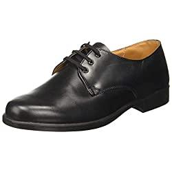 BATA Men's S Stride Black Leather Formal Shoes- 9